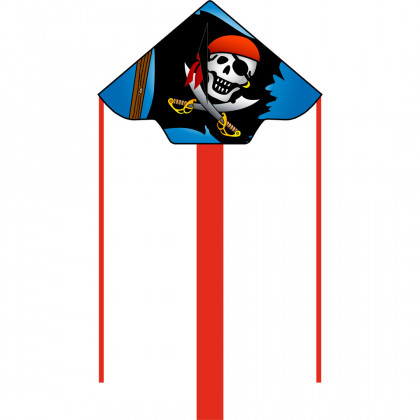 HQ Eco Line Simple Flyer Jolly Roger 120cm