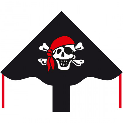 HQ Eco Line Simple Flyer Jolly Roger 85cm