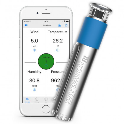 Skywatch windmeter BL500 voor smartphone met bluetooth